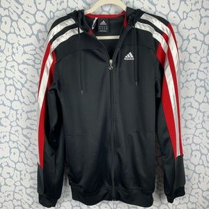 Adidas Climacool Track Jacket Small red and black